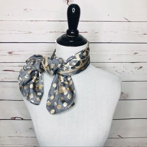 Coach Leopard Print Silk Scarf Neck Tie Headband